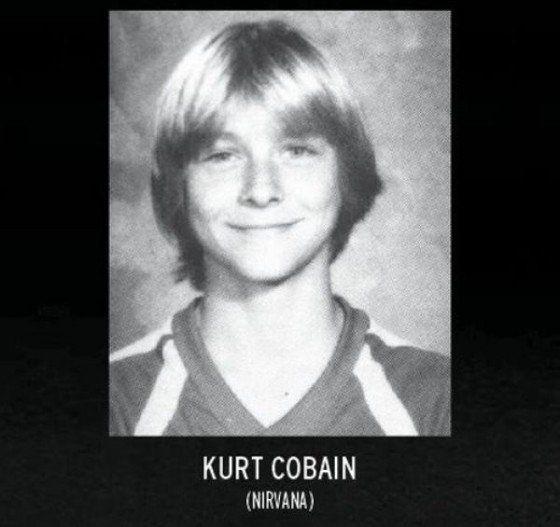 Kurt Cobain jaarboek foto een via Pinterest.com at Pinterest.com