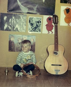 Kurt Cobain childhood photo two at Pinterest.com