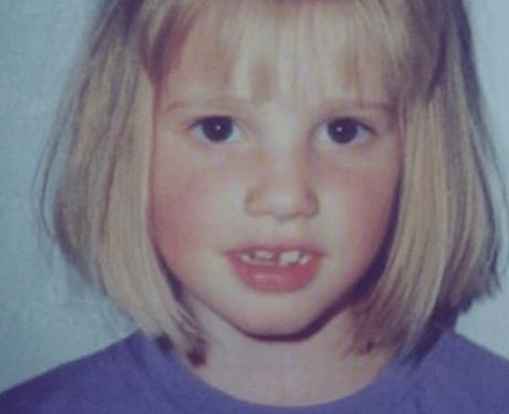 Lara Stone childhood photo one at Heart.co.uk