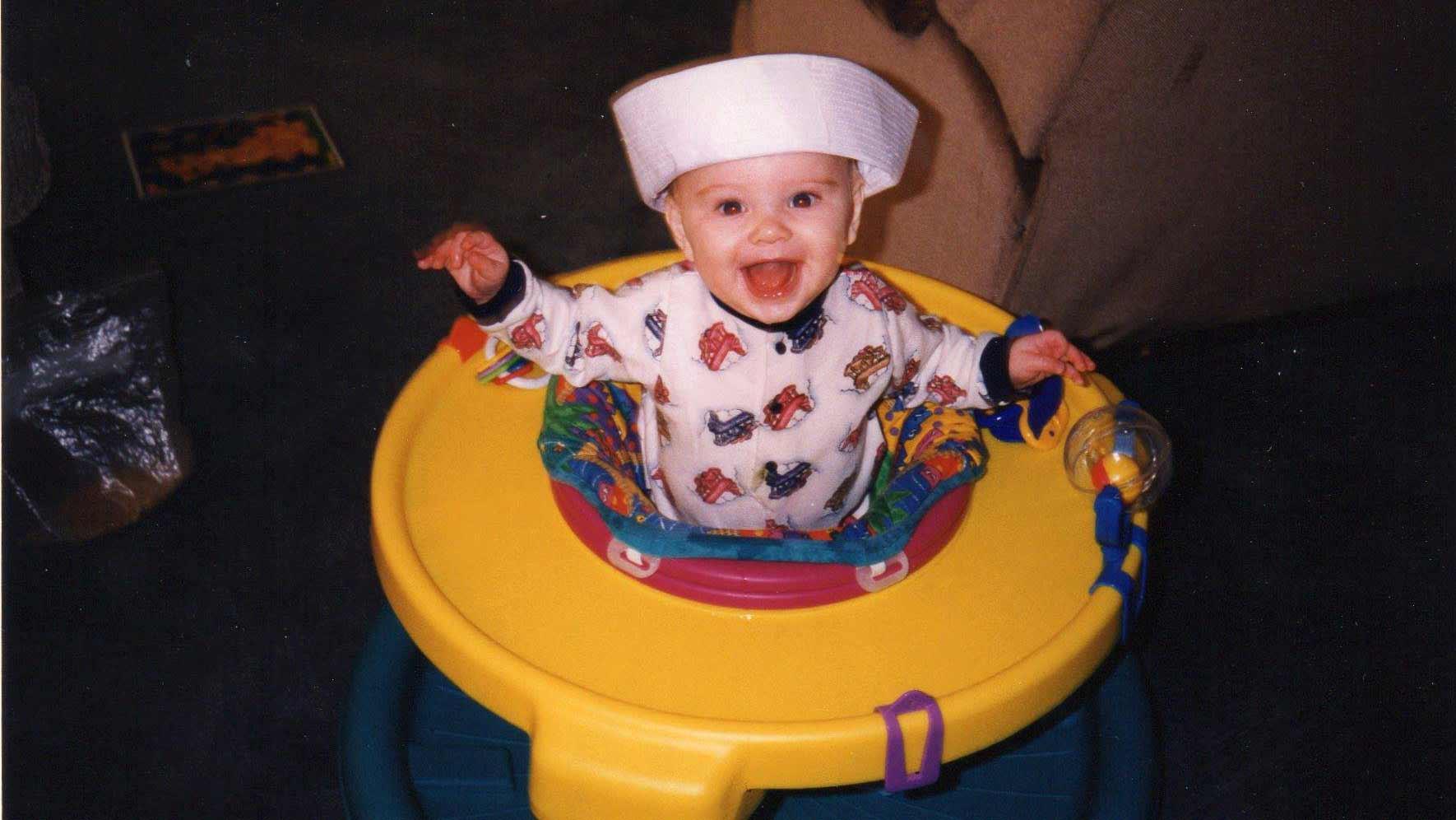 Steele Johnson, foto de infância um em Nbcolympics.com