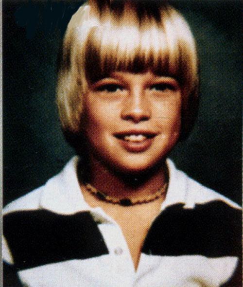 Brad Pitt, foto de infância três em gstatic.com
