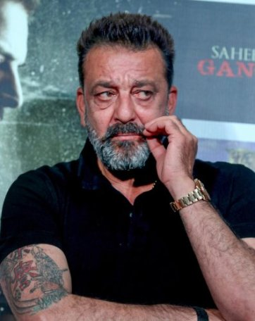 Sanjay Dutt his 60th birthday launches Prasthanam teaser with wife Maanayata.