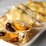 Sweet Potato and Black Bean Samosa