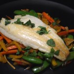 Sea Bass and Ginger Stir Fry