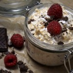 chocolate and raspberry overnight oats