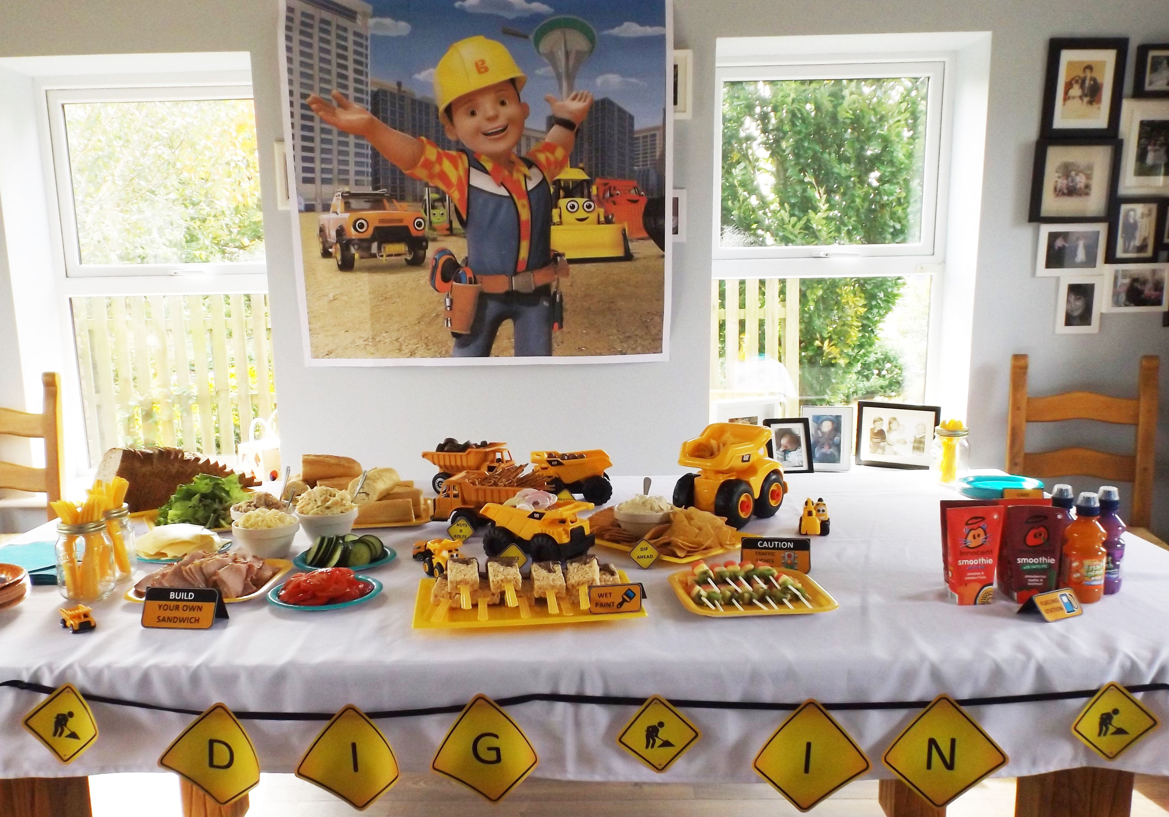 Construction Themed Birthday Party Elis Bob The Builder 2nd