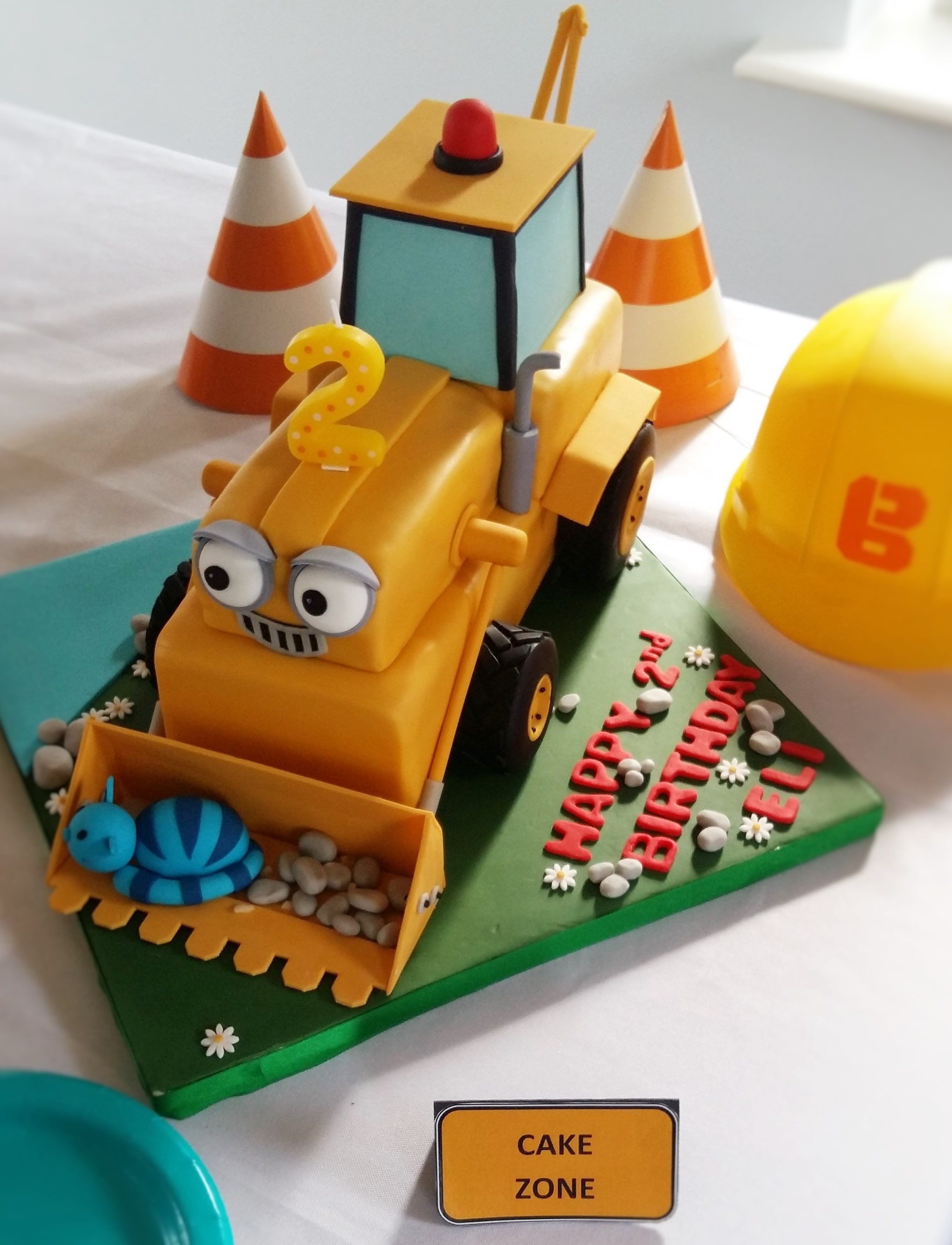 Construction Themed Birthday Party Elis Bob The Builder 2nd Birthday