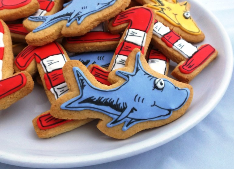 Dr. Seuss One Fish Two Fish Sugar Cookies