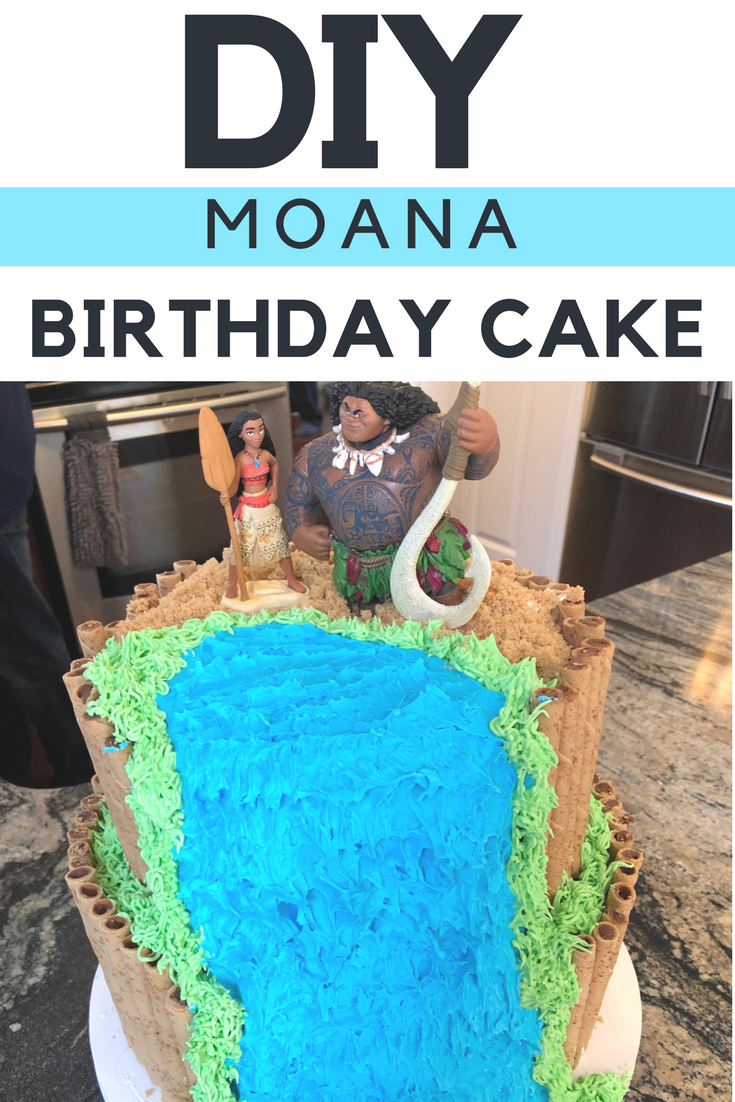 Do It Yourself Moana Birthday Cake Disney Birthday Cake