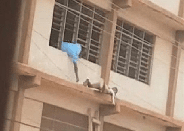 GH News: Man sneaks WASSCE answers up a storey building to student
