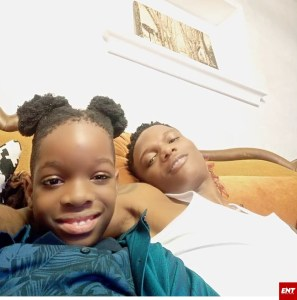 Wizkid and son Boluwatife