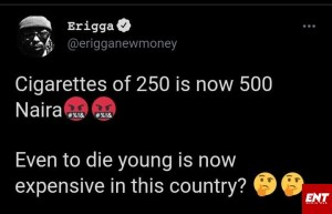 """Even to die Young in this country is expensive"""" Rapper Erigga reveals [Full Gist]"""