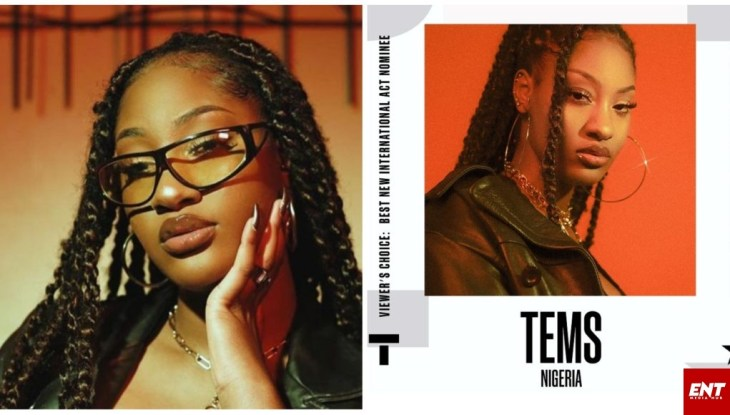 Tems nominated for BET