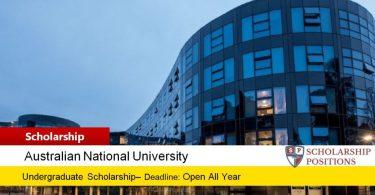 ANU College of Business International Merit Scholarship