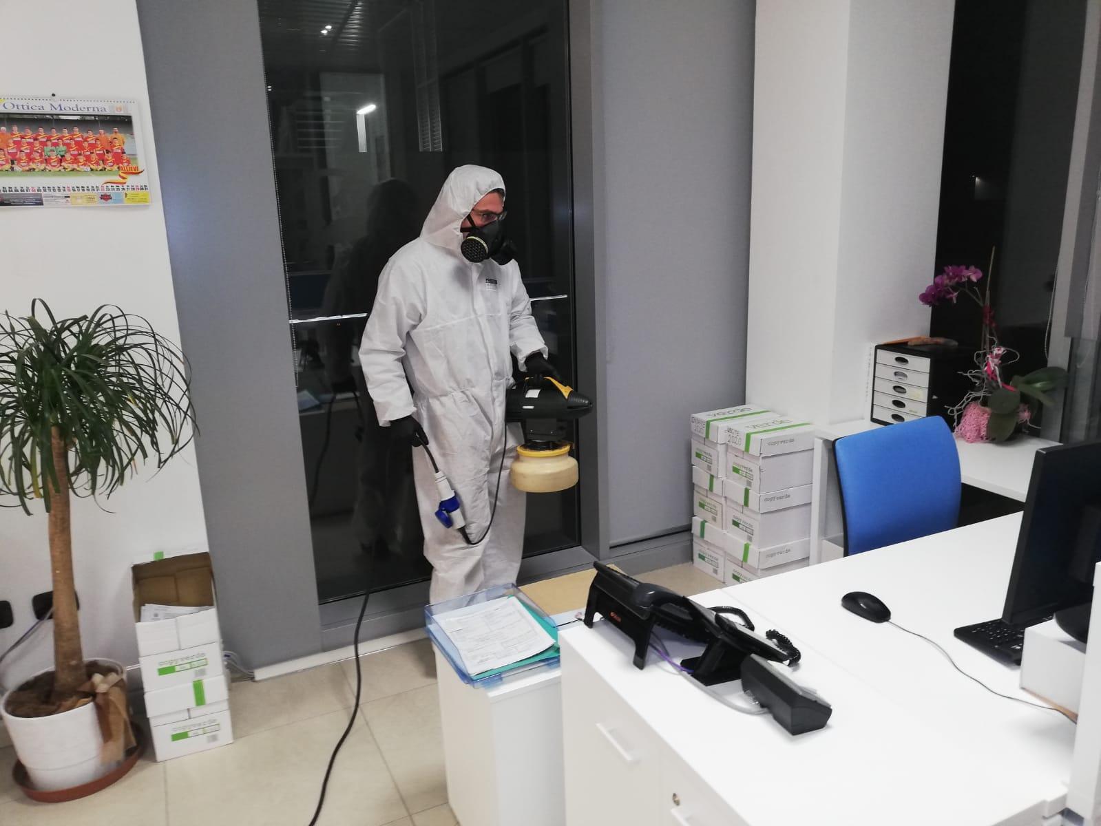 servizio di disinfezione coronavirus in uffici operativi
