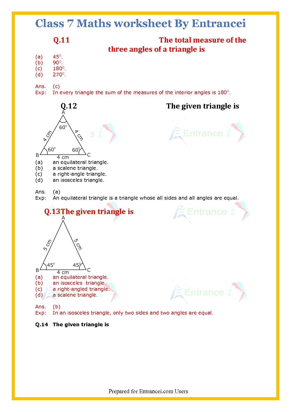 Cbse Class 7 Maths Worksheet For Chapter 10 Practical Geometry