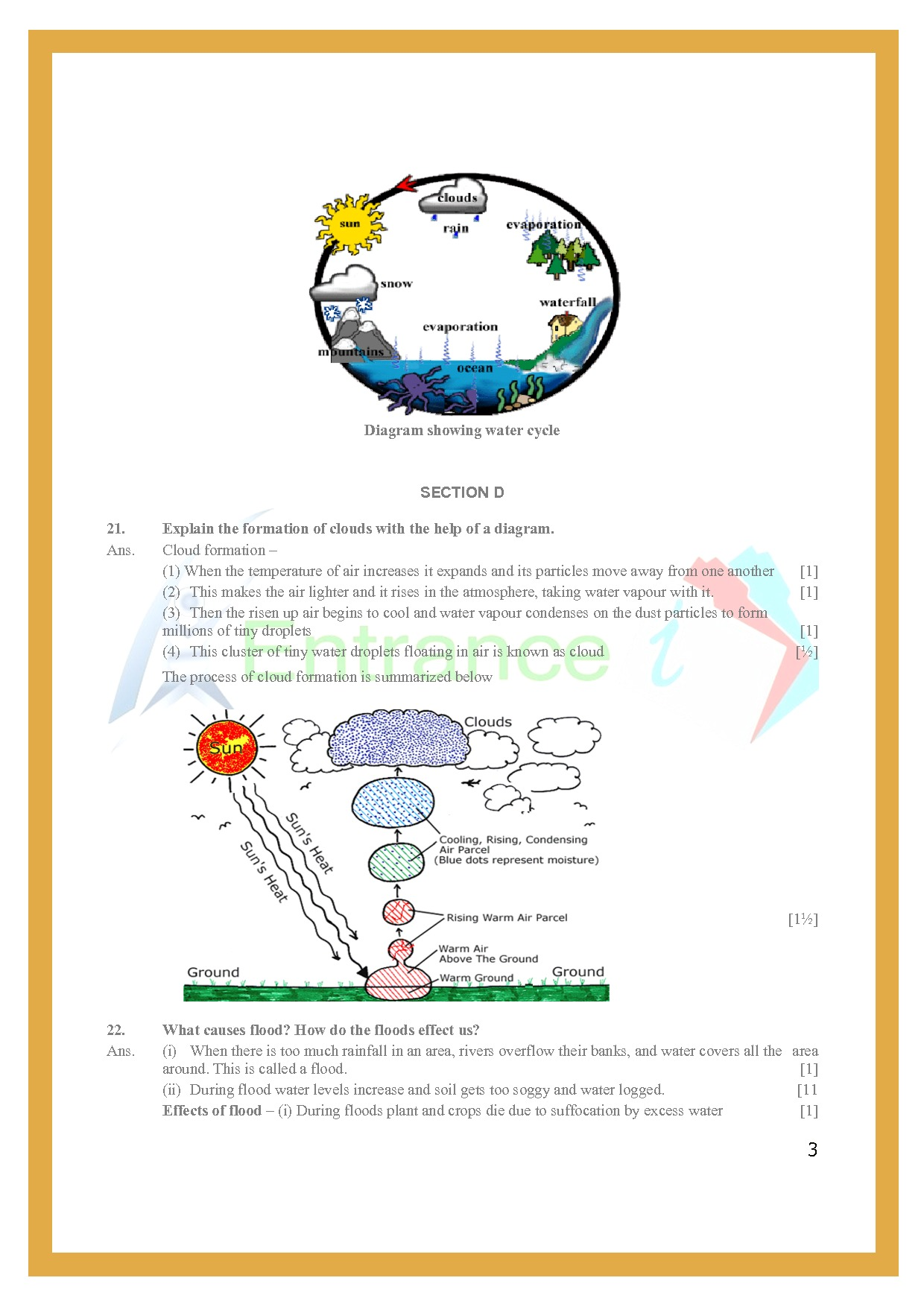 Class 6 Science Worksheets Chapter 14 Water