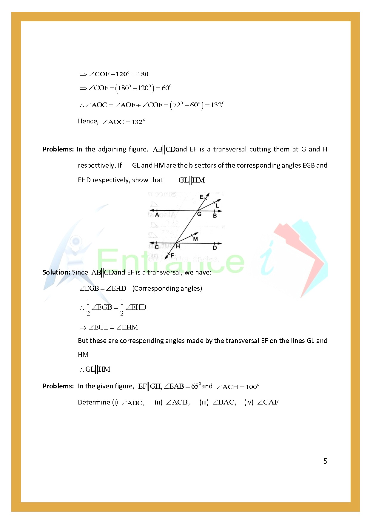 Worksheet For Class 7 Maths For Chapter 11 Lines Angles