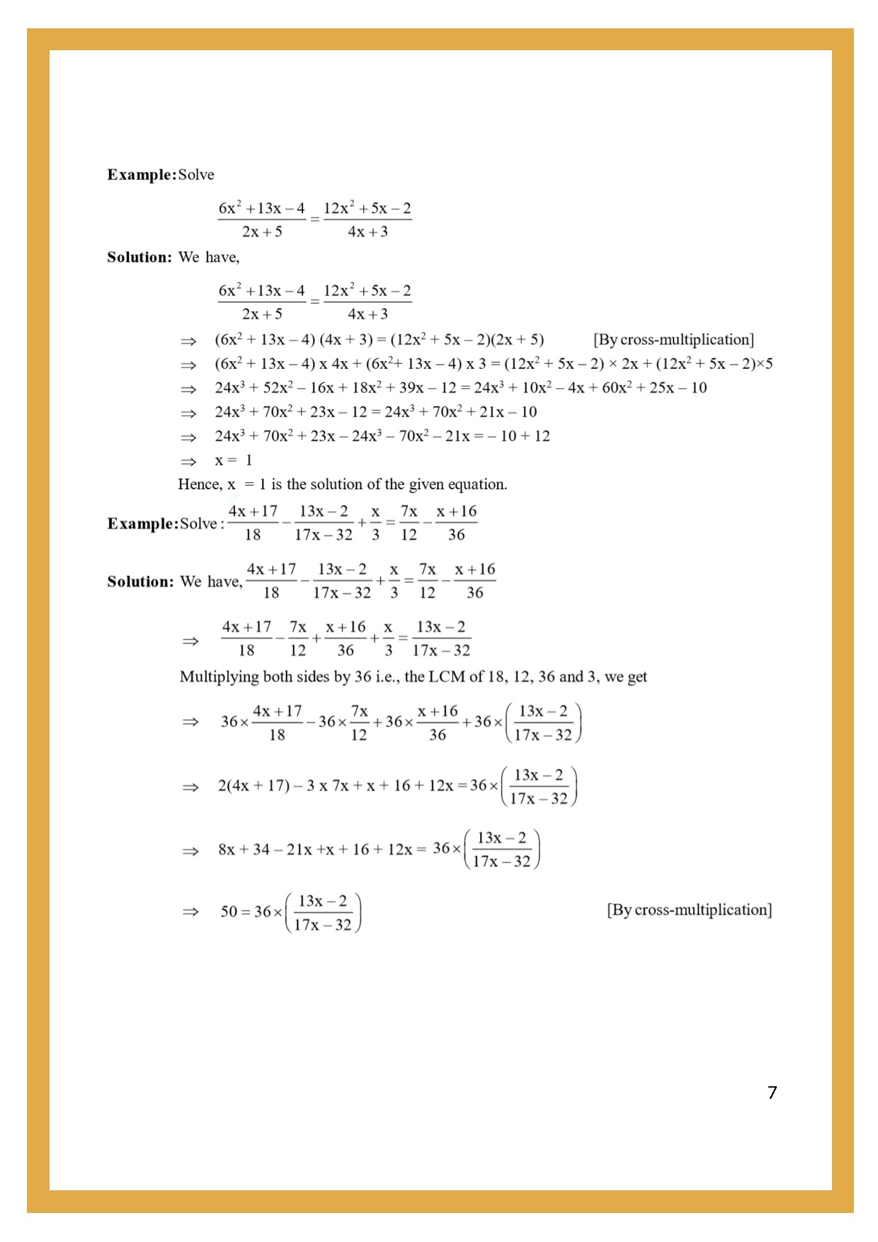 Worksheet For Class 7 Maths For Chapter 6 Linear Equation