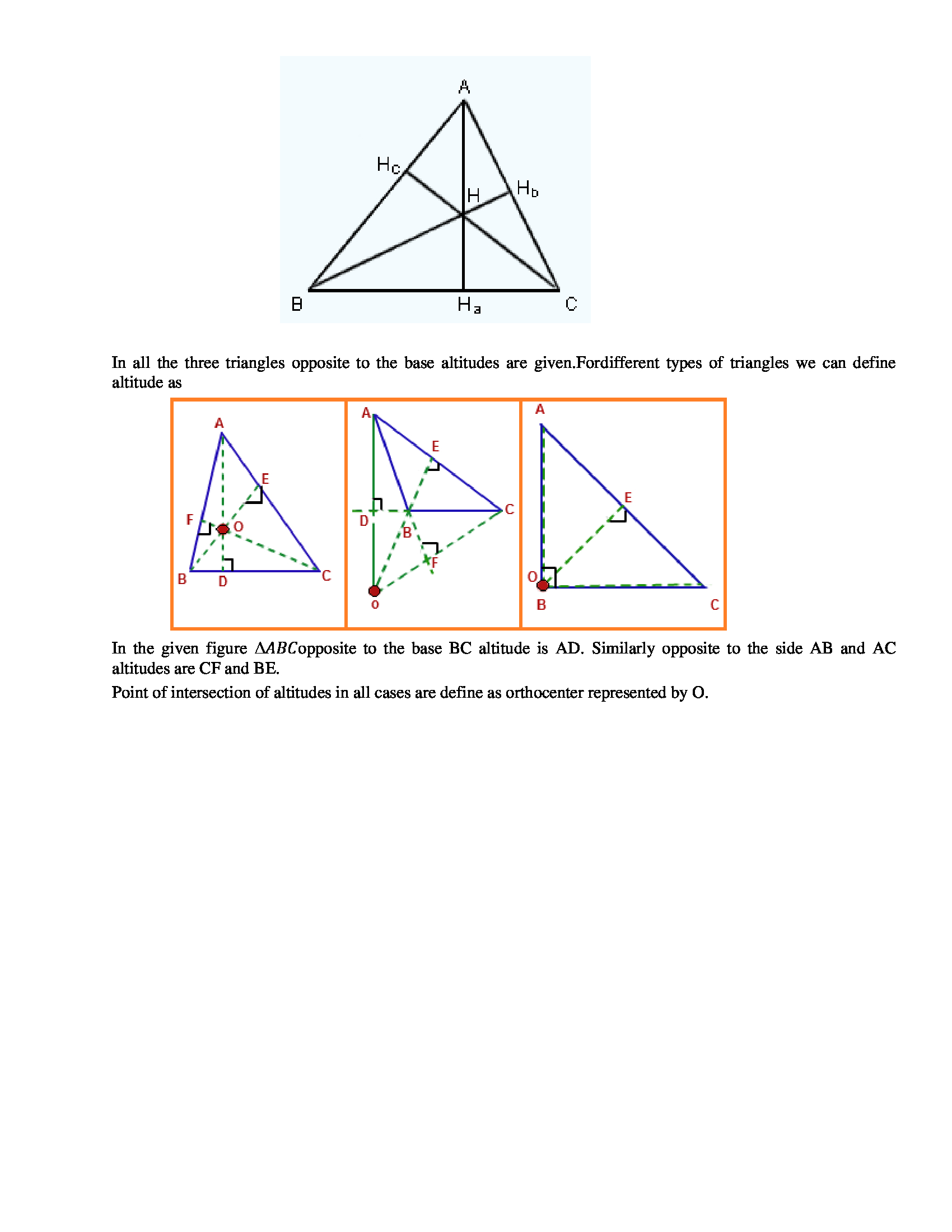 Properties Of Triangles Types Of Angles Properties Of Triangles Class 7