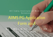 AIIMS PG Application Form 2018