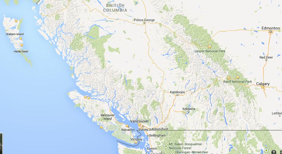 Itinéraire Canada 2015
