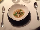 Miso, foie cubes champignons, vegetables, umeboshi, lemon