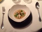 Miso, foie cubes champignons, vegetables, umeboshi, lemon