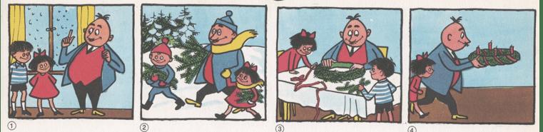 Papa Moll und der Adventskranz