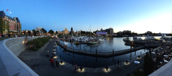 Inner Harbour by night