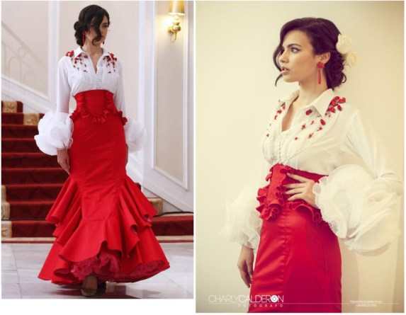 Hotel Colón. El diseñador Cañavate presenta su colección de moda flamenca.