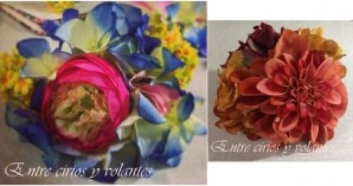 ramillete de flores de flamenca