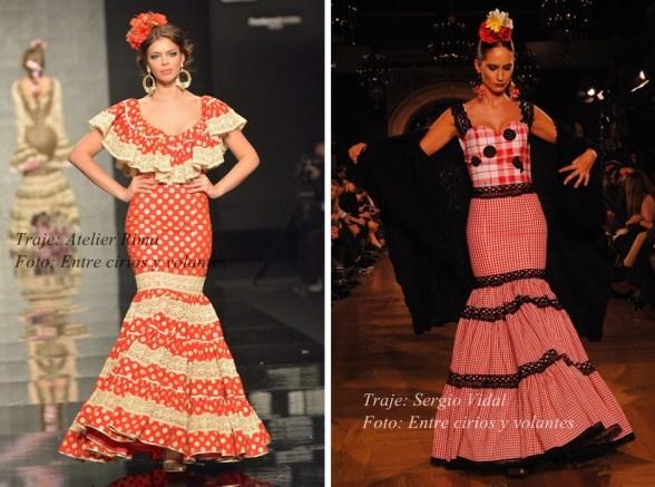 trajes de flamenca canasteros para el rocio