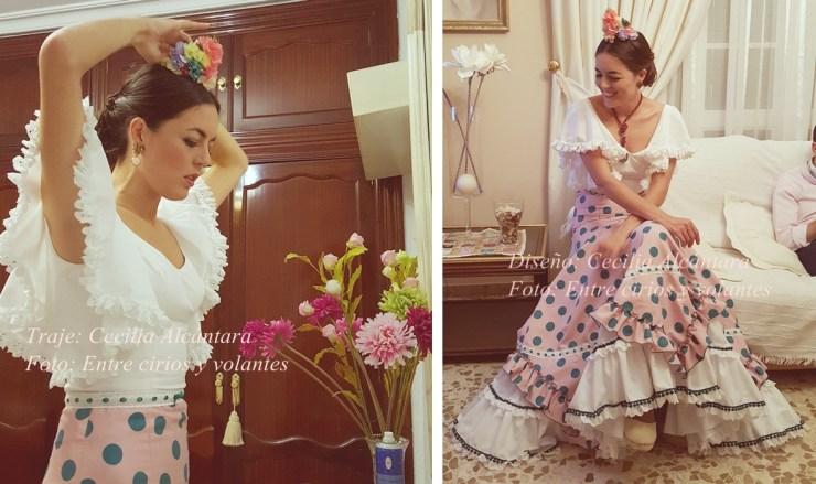 Valme 2015 traje de flamenca de cecilia alcantara entre cirios y volantes 2