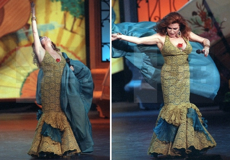 rocio jurado trajes de flamenca