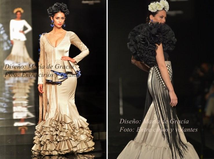 traje de flamenca de maria de gracia foto entre cirios y volantes simof