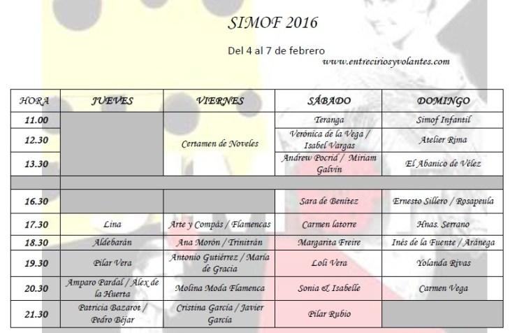 simof 2016 programa entre cirios y volantes