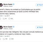 Sigue la pelea Moria Casán destrozó a Nancy Pazos en twitter