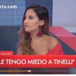 Lourdes Sánchez mostró información confidencial del Bailando y Tinelli la retó en vivo