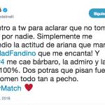 Cande Tinelli salió a aclarar su mensaje a favor de Sole Fandiño en plena guerra con Laurita