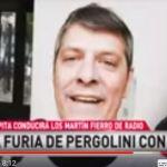 Pergolini sacado con los noteros que fueron hacerle una nota por un tweet