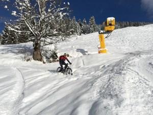 nieve y ciclismo