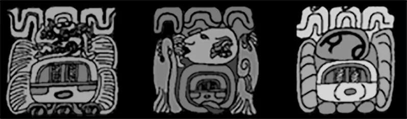 Carved Maya designs with water symbolism. Courtesy of Daniel Matul.