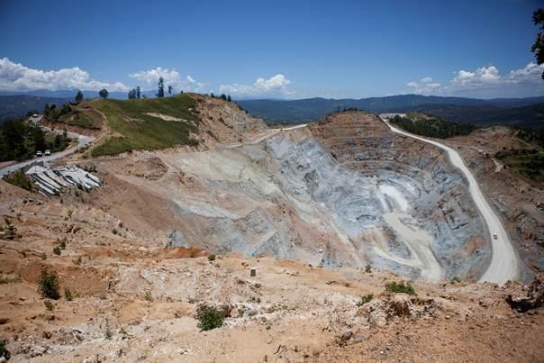 Vista aérea de la mina marlin. Foto: www.movimientom4.org