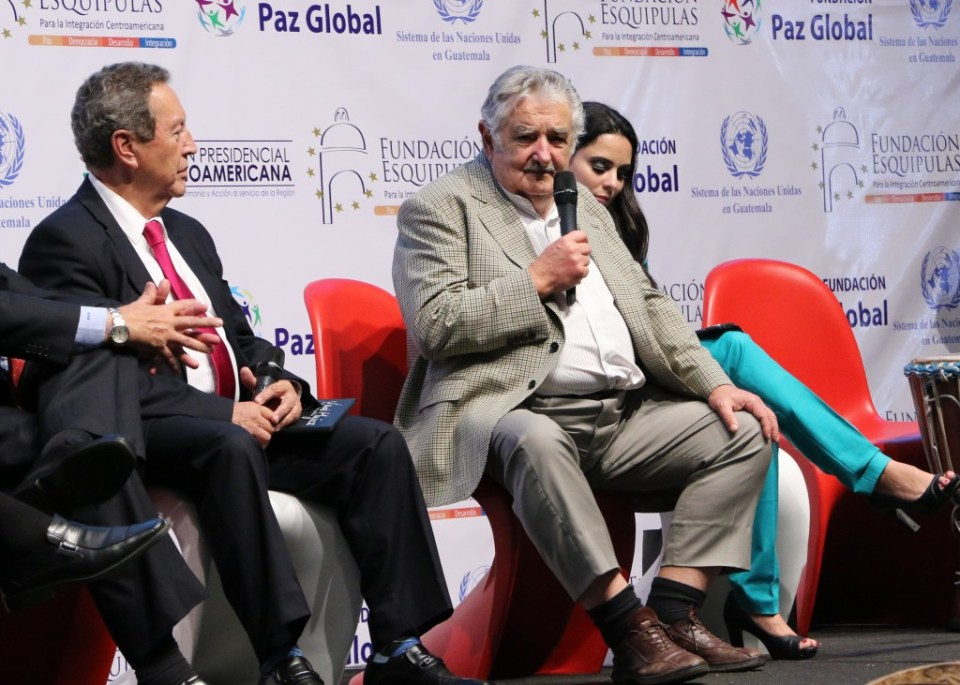 Mujica en el VI Foro Regional Esquipulas, 2015. Foto por Patricia Macías