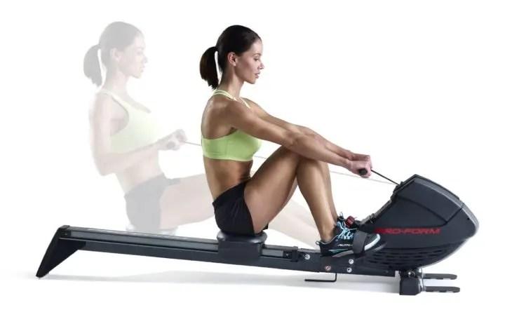 Maquina de ejercicios tipo remo