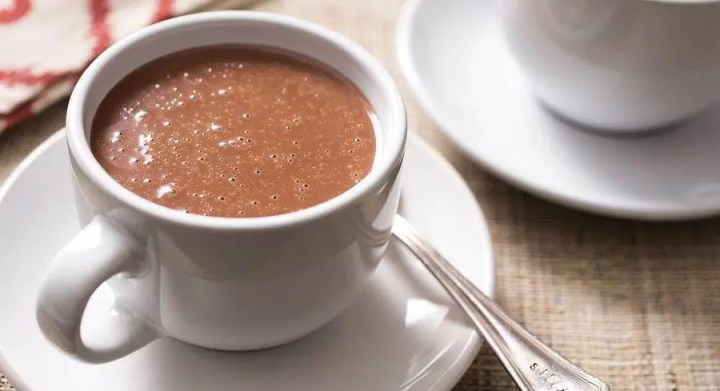 Bebidas con chocolate crudo