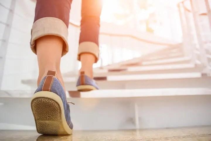 Fatiga tras subir unas pocas escaleras