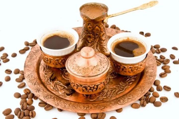 Pasos para preparar café turco