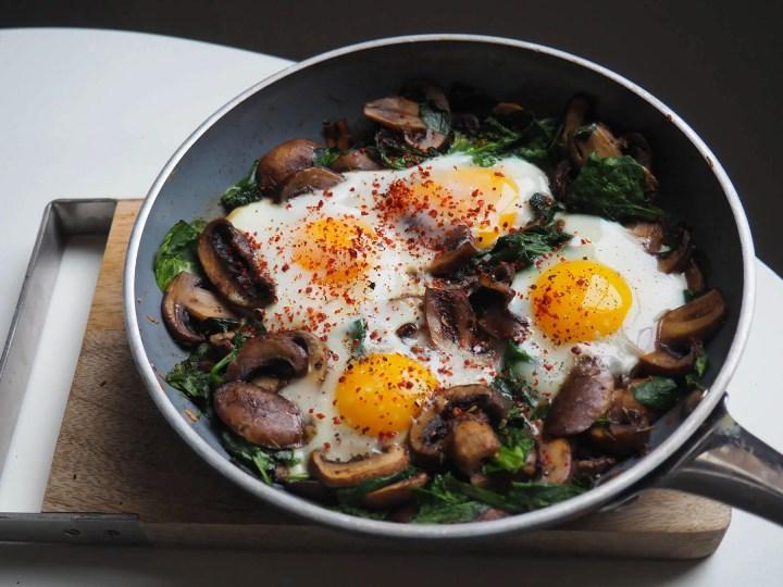 Huevos salteados con verduras
